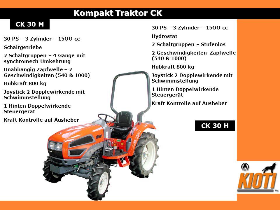 Kompakt Traktor CK CK 30 M CK 30 H 30 PS – 3 Zylinder – 15OO cc