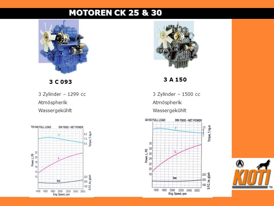 MOTOREN CK 25 & 30 3 A 150 3 C 093 3 Zylinder – 1299 cc Atmöspherik