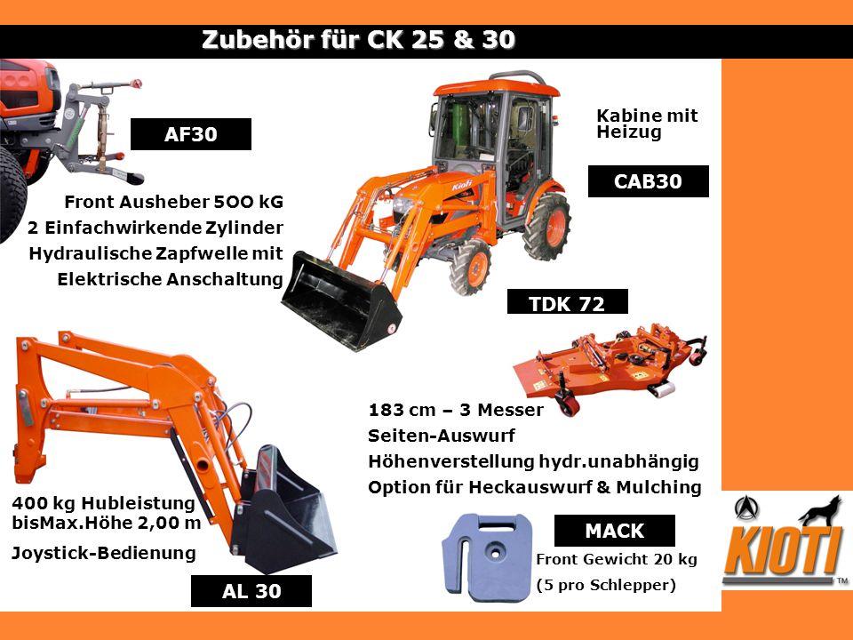 Zubehör für CK 25 & 30 AF30 CAB30 TDK 72 MACK AL 30 Kabine mit Heizug