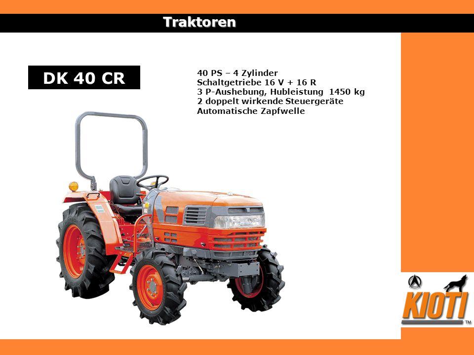 DK 40 CR Traktoren 40 PS – 4 Zylinder Schaltgetriebe 16 V + 16 R