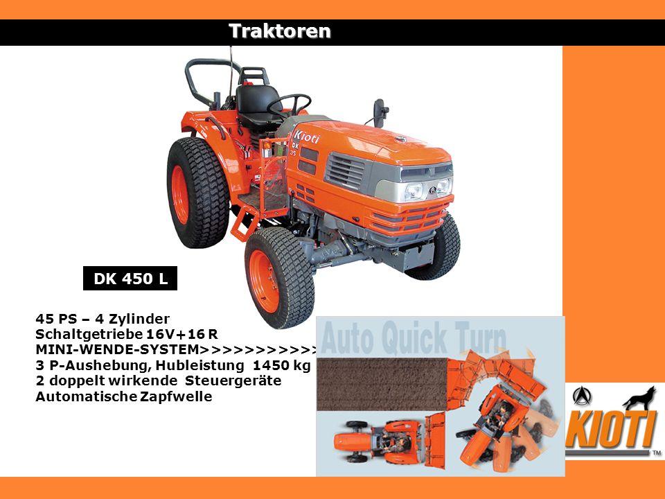 Traktoren DK 450 L 45 PS – 4 Zylinder Schaltgetriebe 16V+16 R