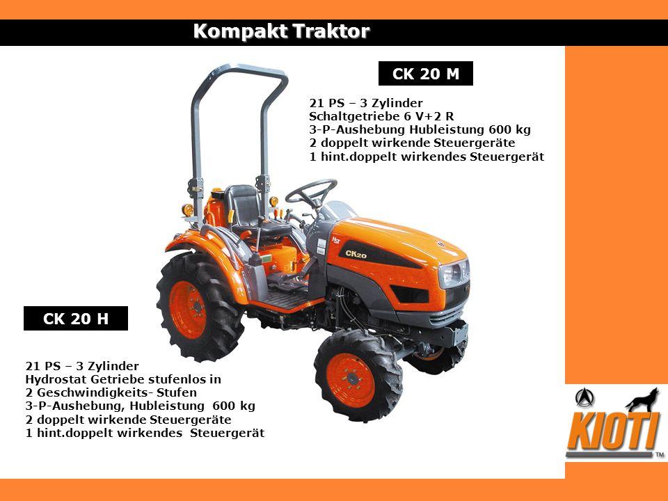 Kompakt Traktor CK 20 M CK 20 H 21 PS – 3 Zylinder