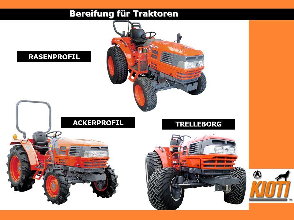 Bereifung für Traktoren