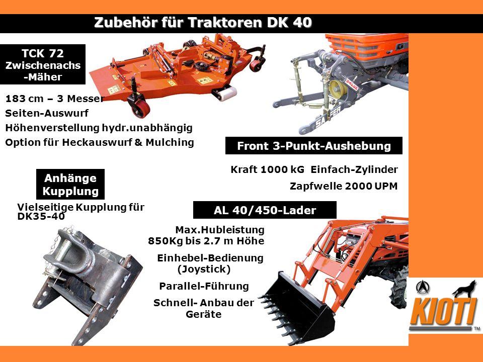 Zubehör für Traktoren DK 40