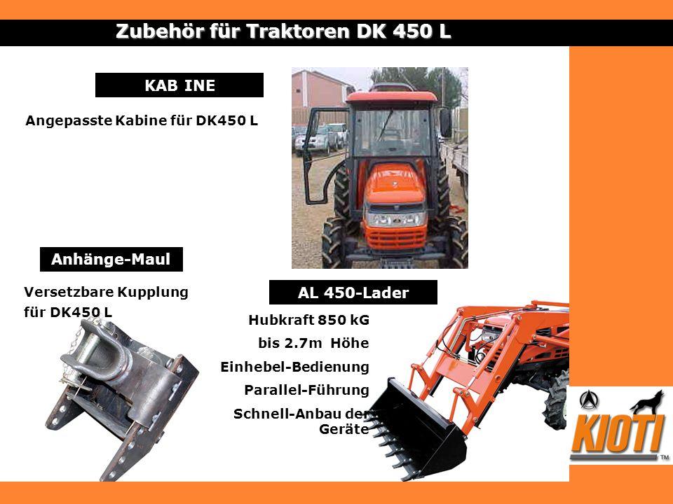 Zubehör für Traktoren DK 450 L