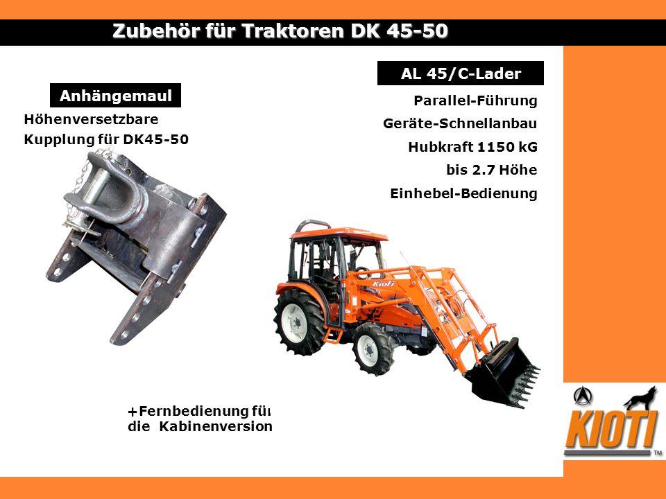 Zubehör für Traktoren DK 45-50