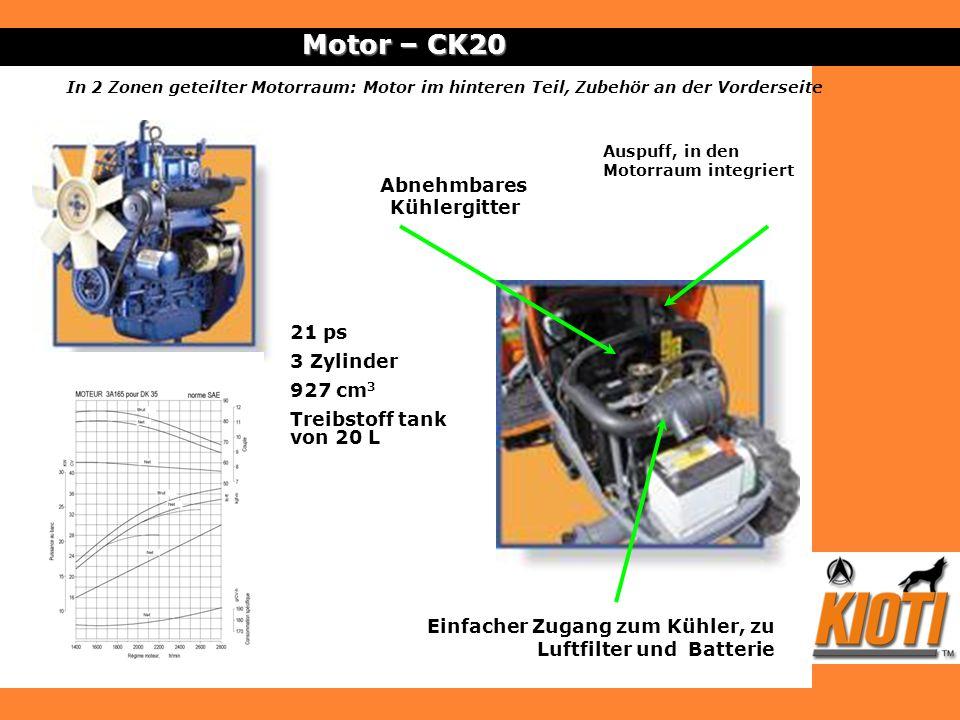 Motor – CK20 Abnehmbares Kühlergitter 21 ps 3 Zylinder 927 cm3