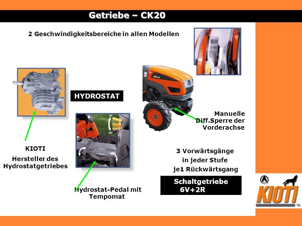 Hersteller des Hydrostatgetriebes Hydrostat-Pedal mit Tempomat