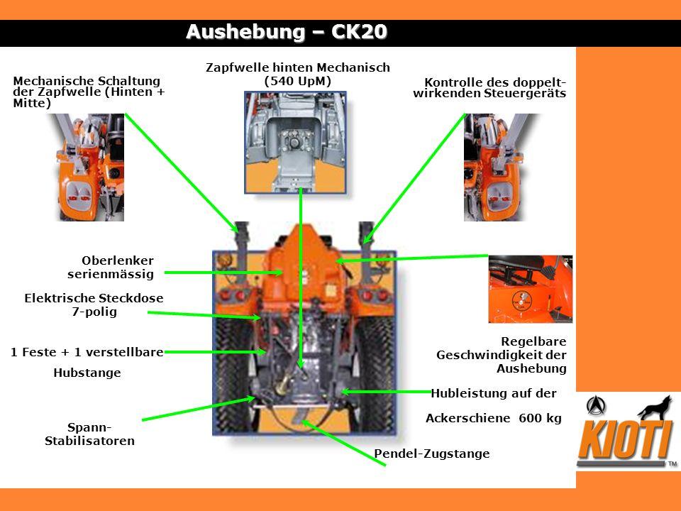 Aushebung – CK20 Zapfwelle hinten Mechanisch (540 UpM)