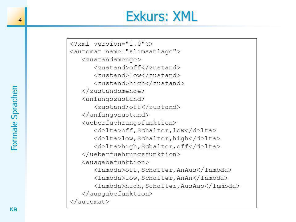 Exkurs: XML