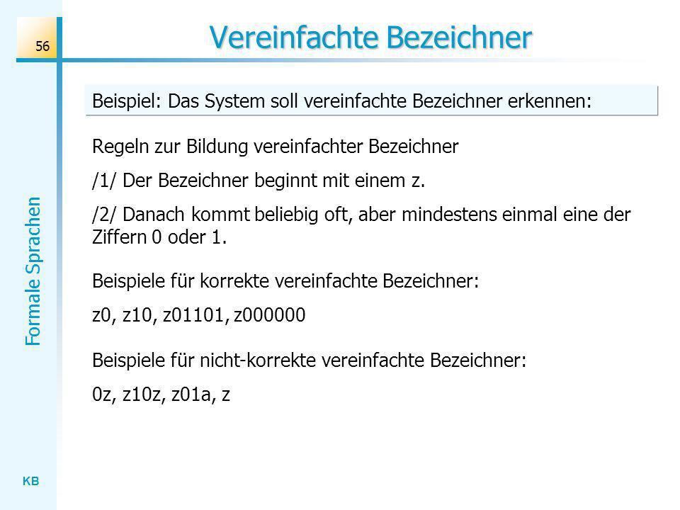 Vereinfachte Bezeichner