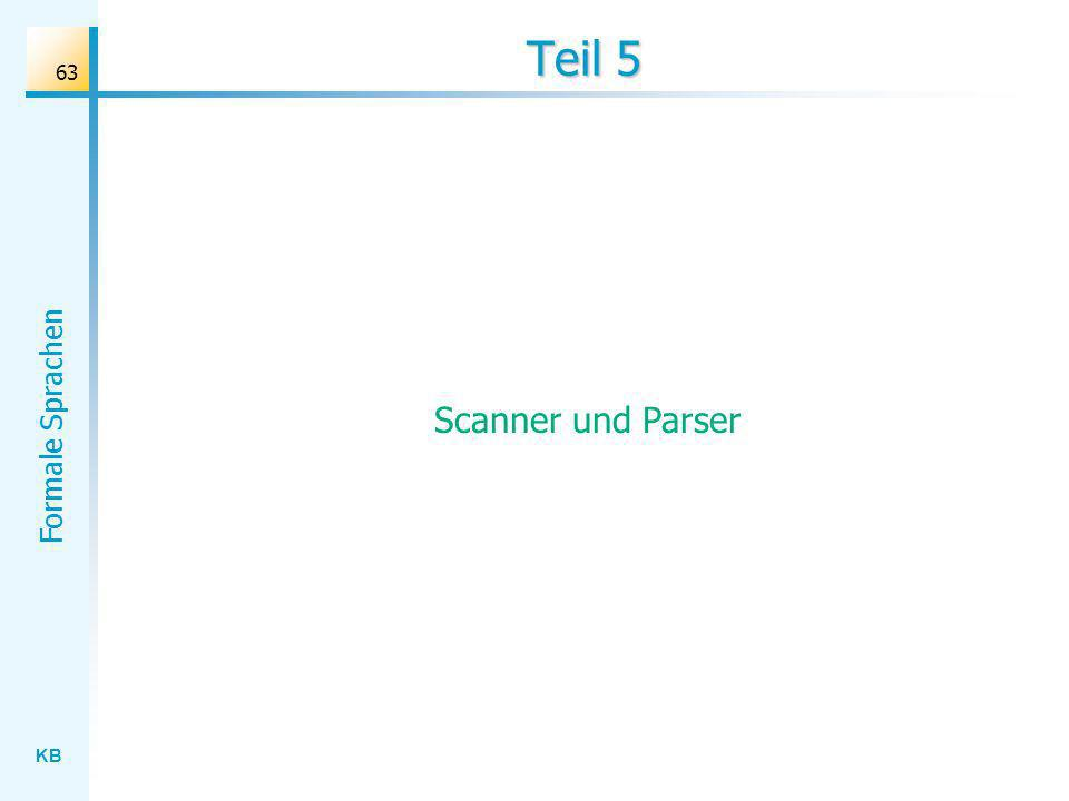 Teil 5 Scanner und Parser