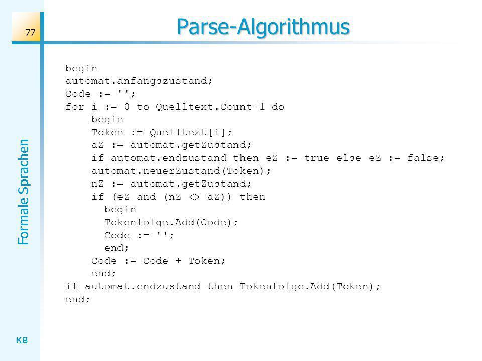 Parse-Algorithmus