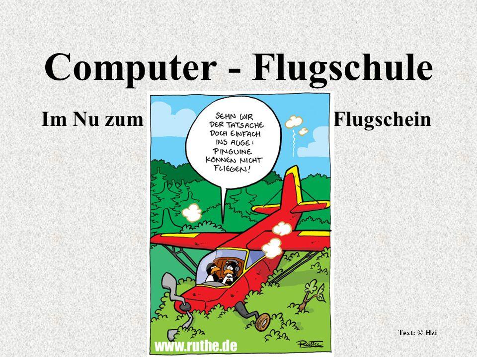 Computer - Flugschule Im Nu zum Flugschein Text: © Hzi
