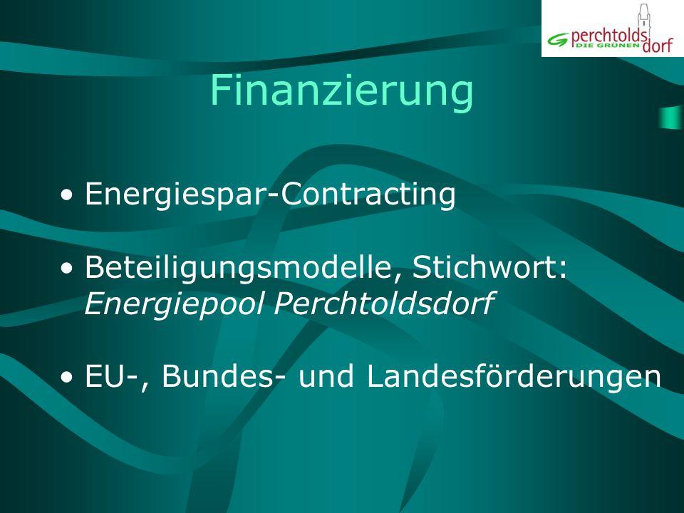 Finanzierung Energiespar-Contracting