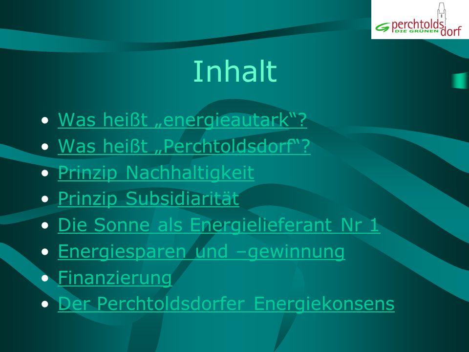 "Inhalt Was heißt ""energieautark Was heißt ""Perchtoldsdorf"