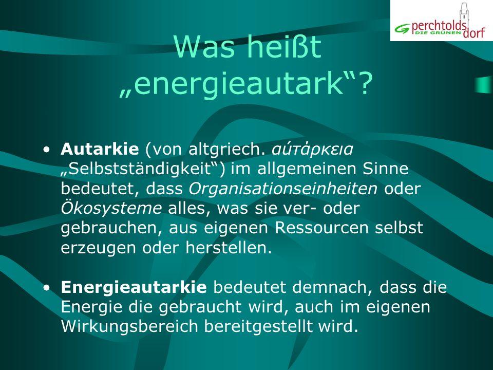 """Was heißt """"energieautark"""