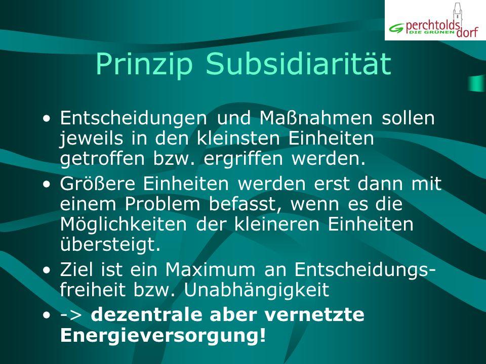 Prinzip Subsidiarität