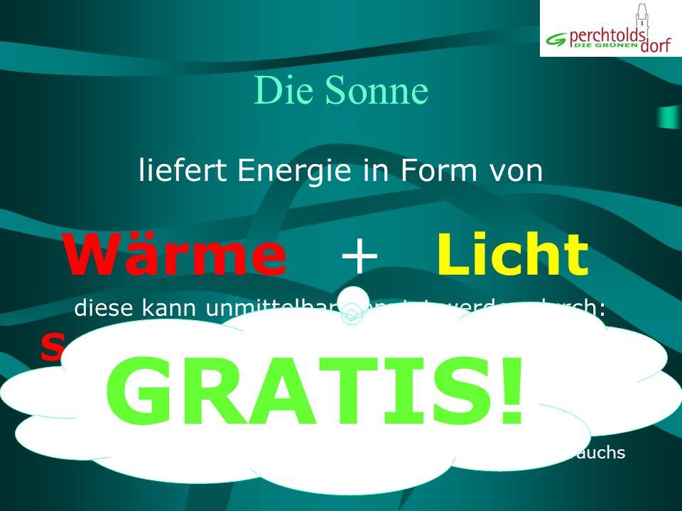GRATIS! + Wärme Licht Die Sonne Solarthermie Photovoltaik
