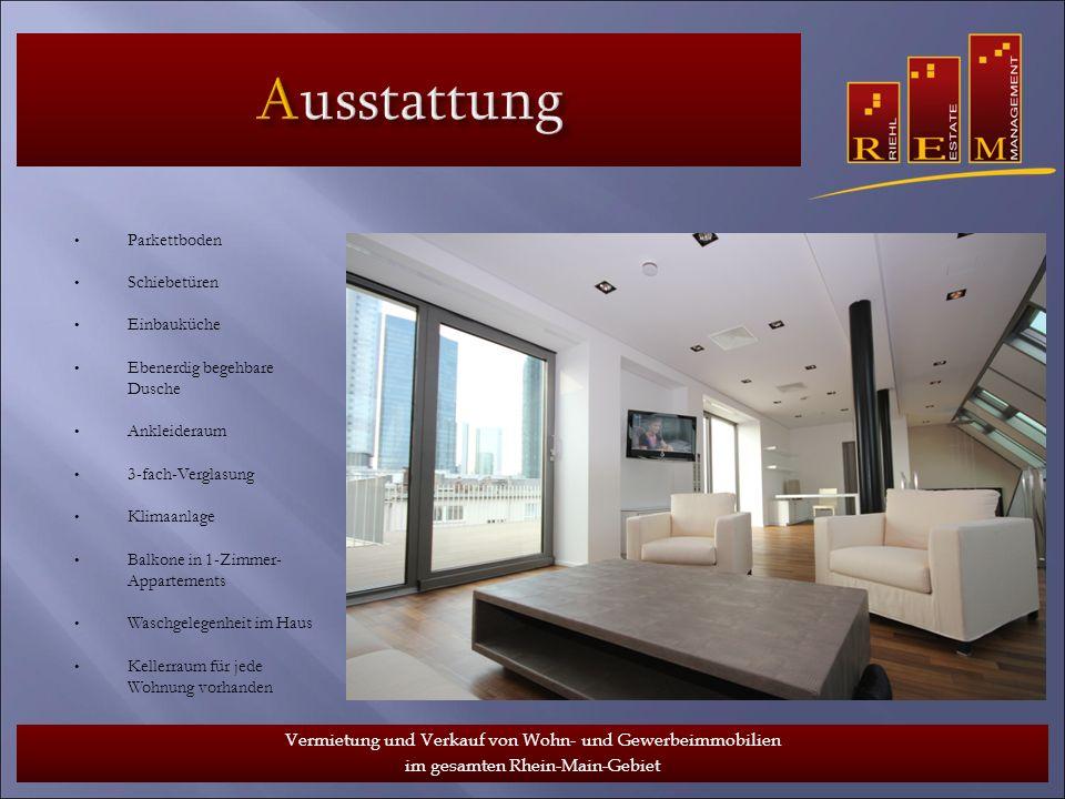 Ausstattung www.riehlestate.de Schiebetüren Einbauküche