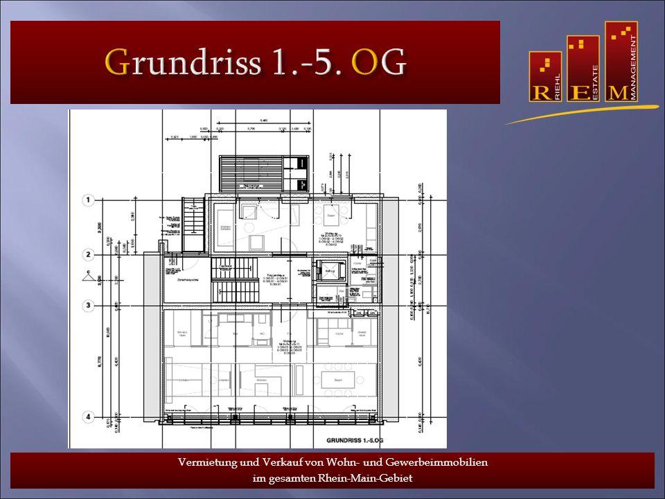 Grundriss 1.-5. OG Vermietung und Verkauf von Wohn- und Gewerbeimmobilien.