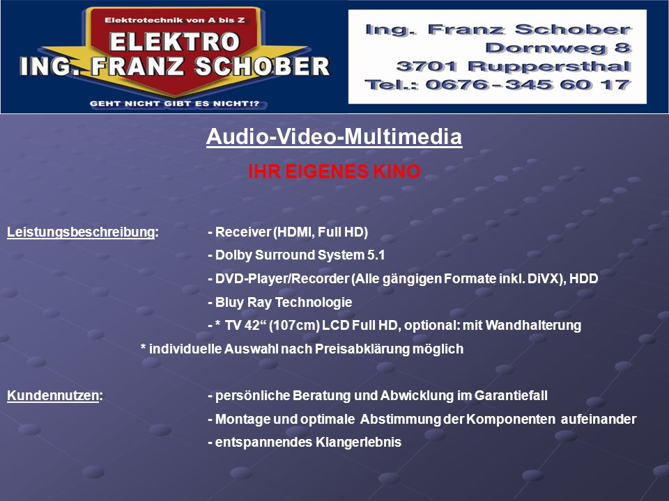 Audio-Video-Multimedia