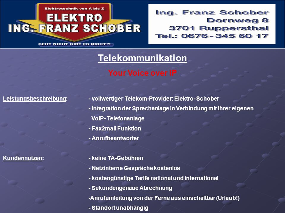 Telekommunikation Your Voice over IP