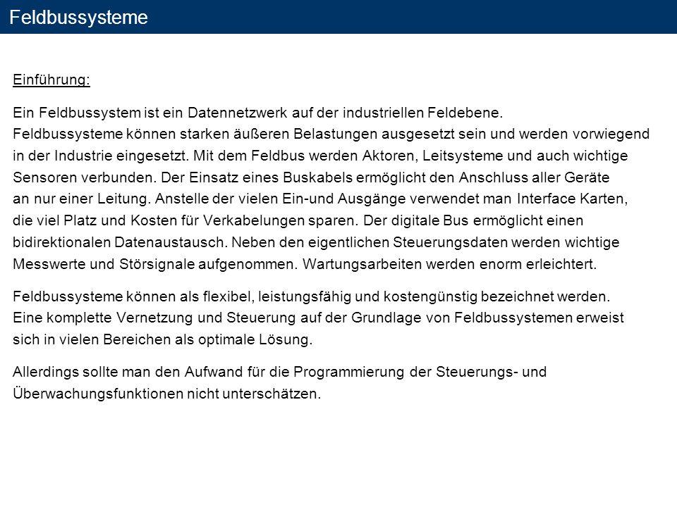 Feldbussysteme Einführung: