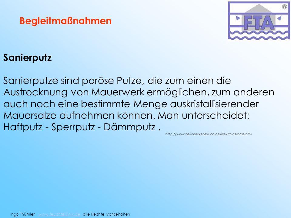 Haftputz - Sperrputz - Dämmputz .