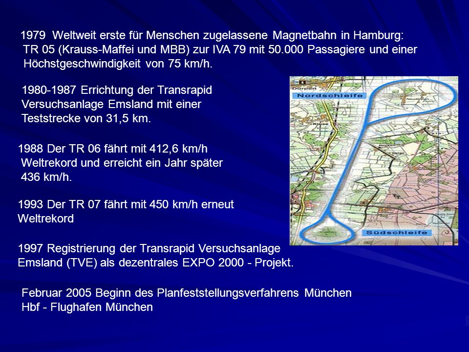 Weltweit erste für Menschen zugelassene Magnetbahn in Hamburg: