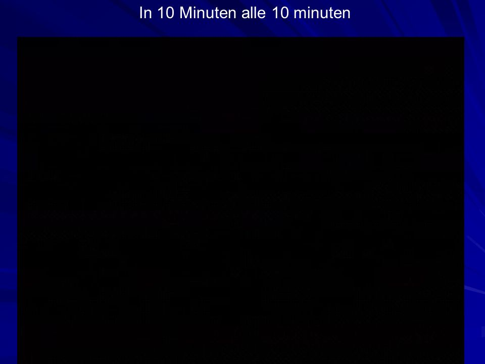 In 10 Minuten alle 10 minuten