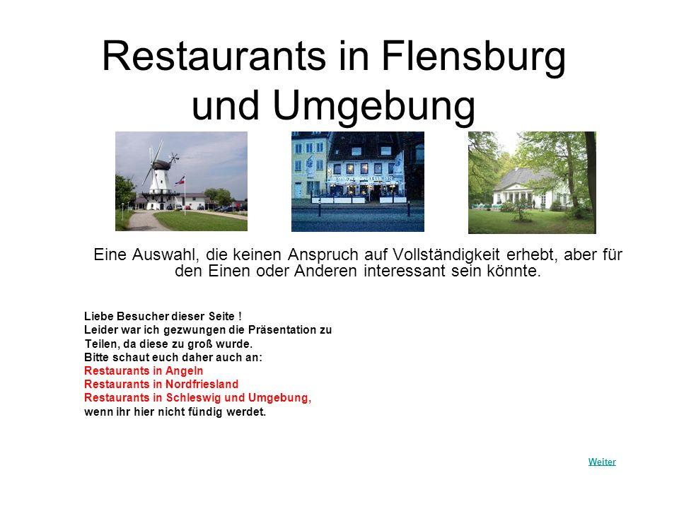 Restaurants in Flensburg und Umgebung
