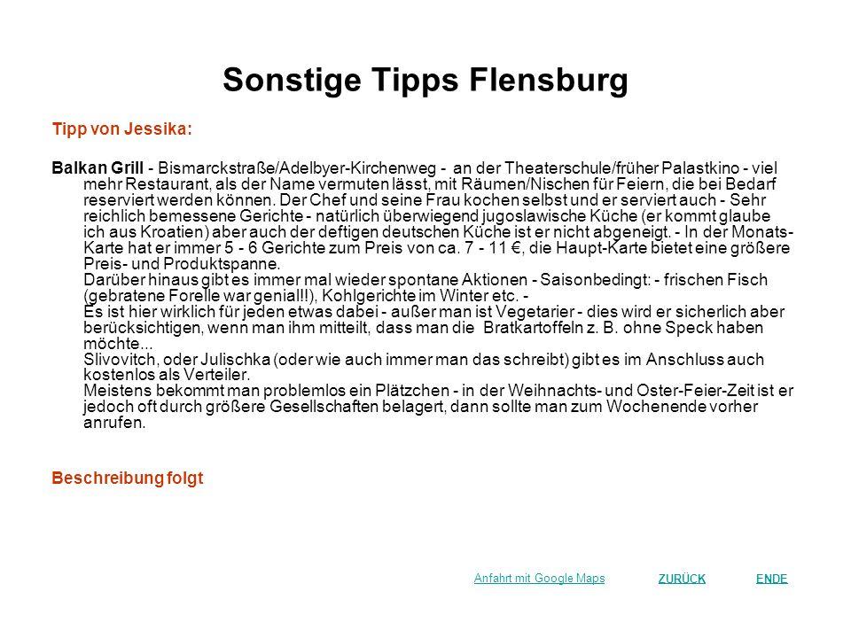 Sonstige Tipps Flensburg