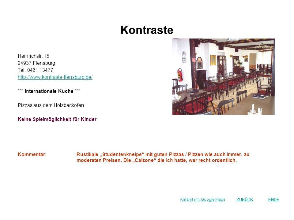 Kontraste Heinrichstr. 15 24937 Flensburg Tel. 0461 13477