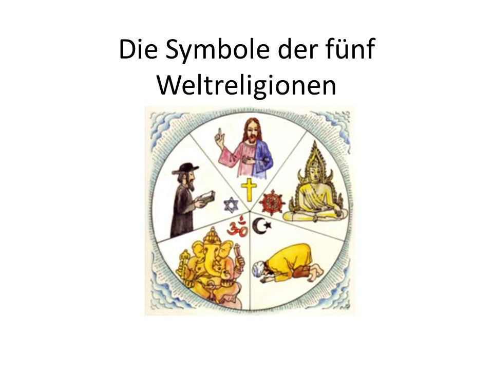 Die Symbole der fünf Weltreligionen