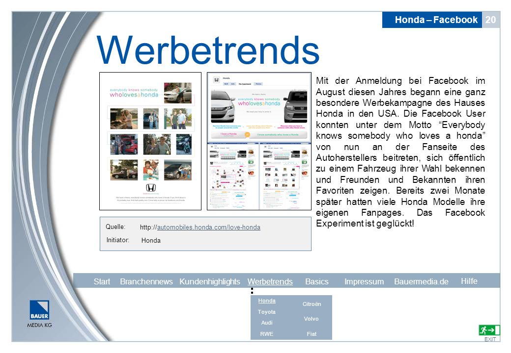 Werbetrends Honda – Facebook 20