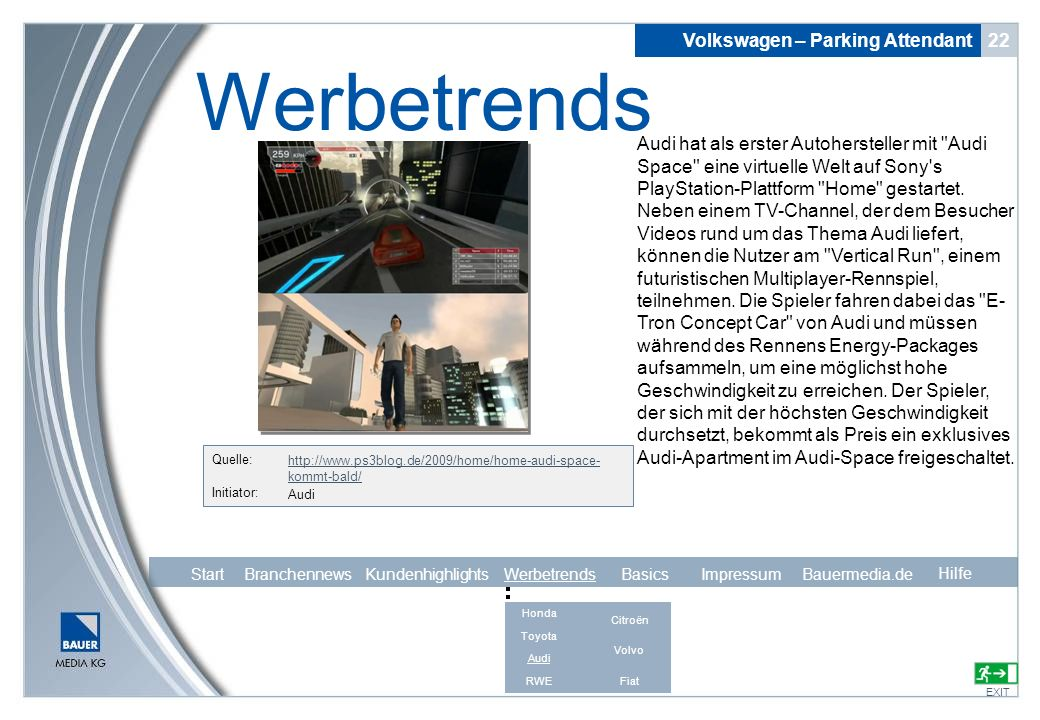 Werbetrends Volkswagen – Parking Attendant 22