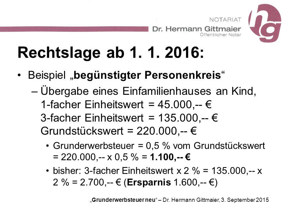 """Rechtslage ab 1. 1. 2016: Beispiel """"begünstigter Personenkreis"""