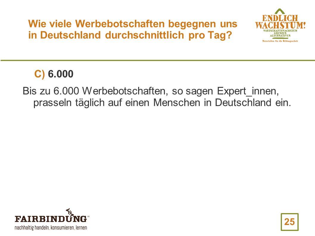 Wie viele Werbebotschaften begegnen uns in Deutschland durchschnittlich pro Tag