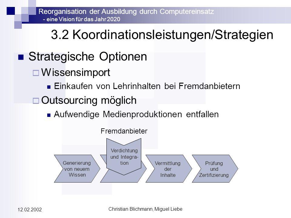 3.2 Koordinationsleistungen/Strategien