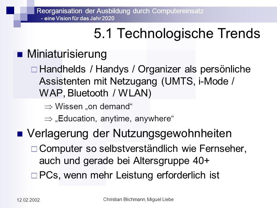 5.1 Technologische Trends
