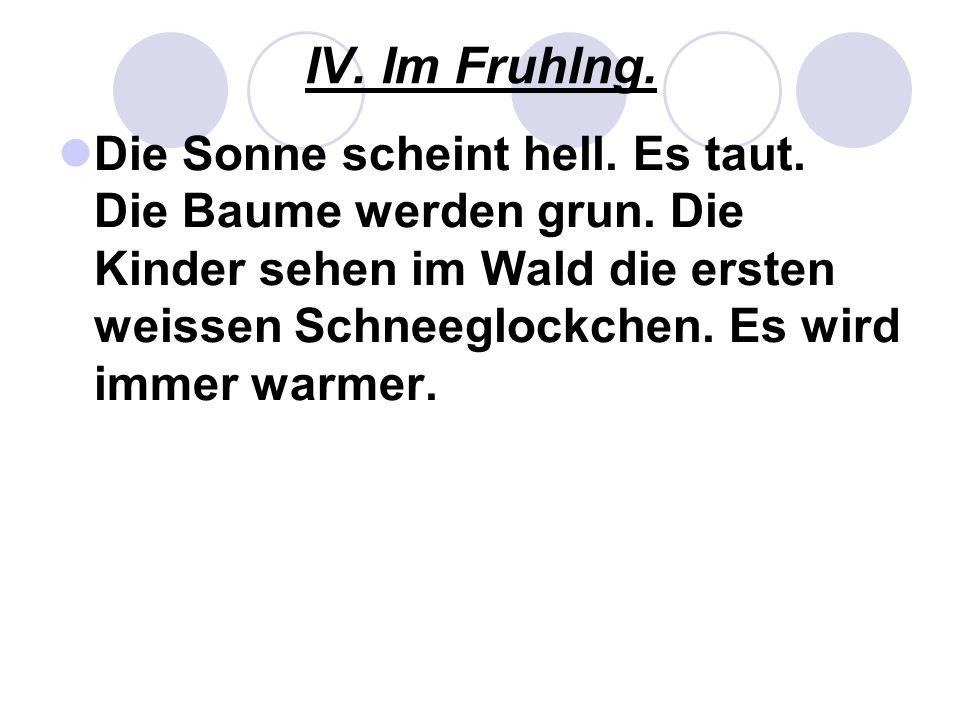 IV. Im Fruhlng.