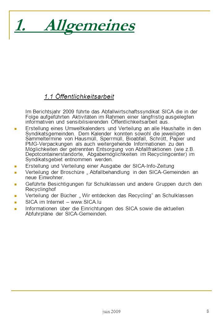 1. Allgemeines 1.1 Öffentlichkeitsarbeit