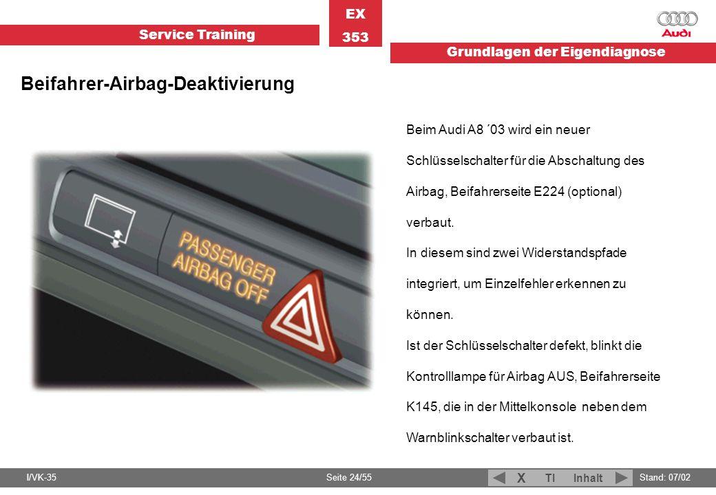 Beifahrer-Airbag-Deaktivierung