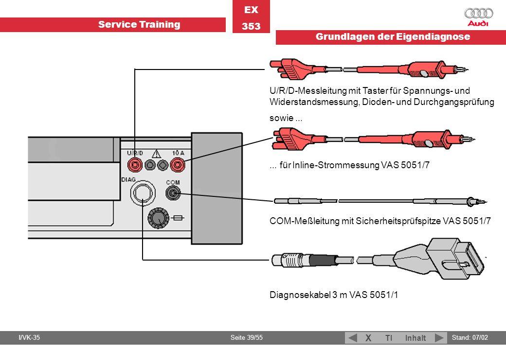 U/R/D-Messleitung mit Taster für Spannungs- und Widerstandsmessung, Dioden- und Durchgangsprüfung