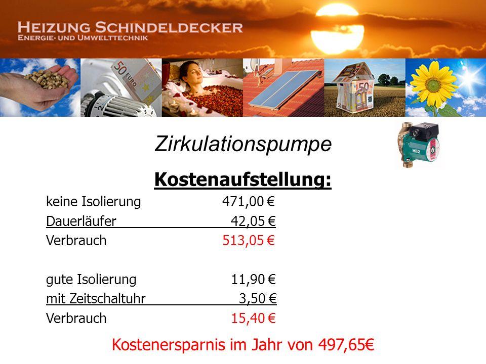 Kostenersparnis im Jahr von 497,65€