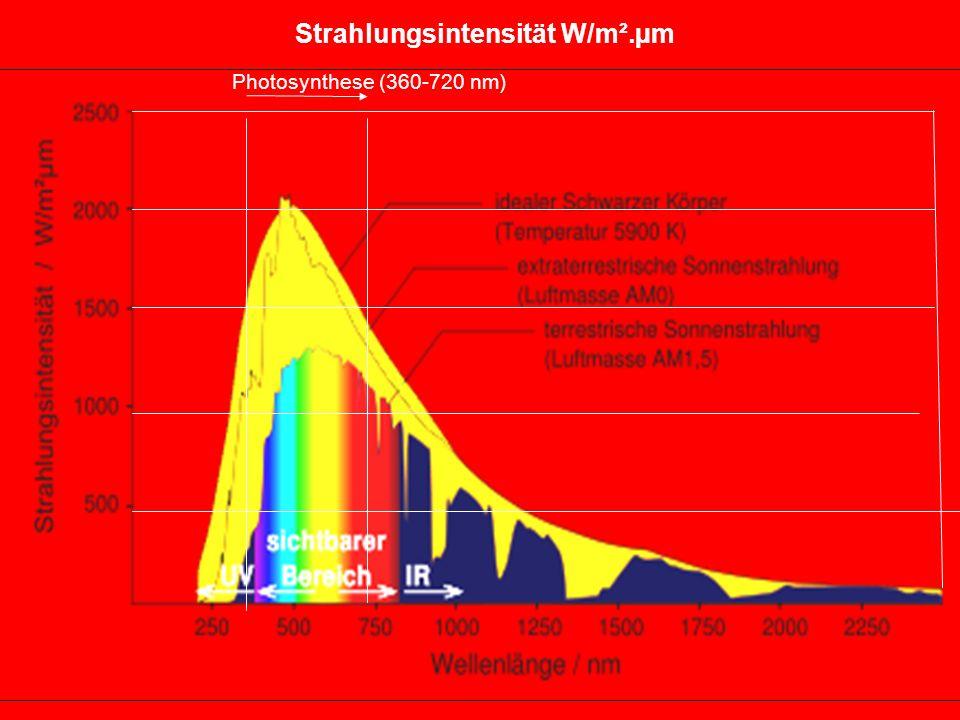 Strahlungsintensität W/m².µm