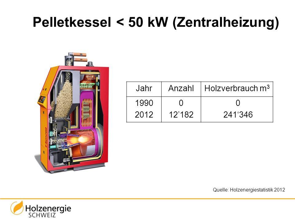 Pelletkessel < 50 kW (Zentralheizung)