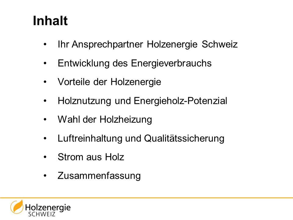 Inhalt Ihr Ansprechpartner Holzenergie Schweiz