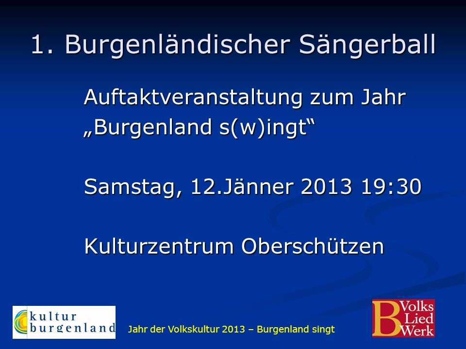1. Burgenländischer Sängerball